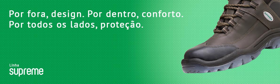 A linha Supreme reúne os atributos mais importantes em um calçado de  segurança  proteção, leveza e beleza. 18460ee1c1
